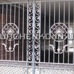 Кованые ворота во двор (г. Одесса, Украина)