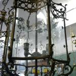 Кованый бронзовый фонарь