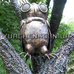 Кованая сова из донецкого парка кованых фигур