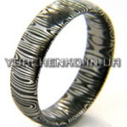 Кольцо из дамасской стали