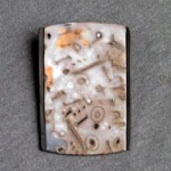 Украшение, выполненное в технике мокуме-гане