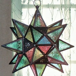 Кованый светильник в форме звезды